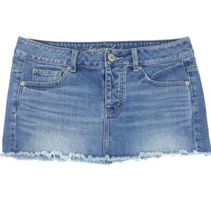 American Eagle Outfitters Cut Off Denim Skirt 4